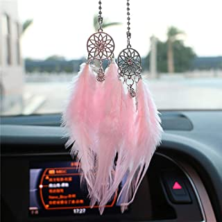 ZENGJIABIN Mini Dream Catcher Car Pendant Wind Chimes Feather Decoration Home Decor  amp  Wall Hanging Adornment Handmade Dreamcatcher Gifts