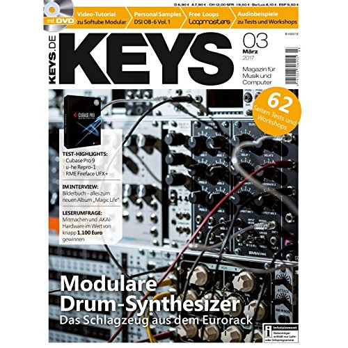 Keys 3 2017 mit DVD - Modulare Drum Synthesizer - Personal Samples - Free Loops - Audiobeispiele