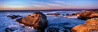 Rocky coastline at sunset Montana de Oro State Park Morro Bay California USA Poster Print by Panoramic Images (18 x 6)