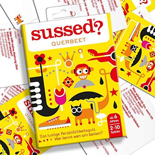 SUSSED QUERBEET (EDICIÓN ALEMANA) (Divertidísimo y familiar juego de conversación de cartas) (Descubre quién conoce mejor a quién)
