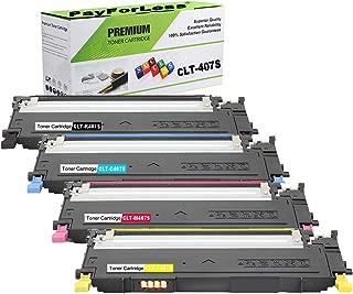 PayForLess CLT-K407S XAA Toner Cartridge Replacement 4PK for Samsung CLP-325W CLP-325 CLP-320 CLP-320N CLX-3185FW CLX-3185 CLX-3180 CLX-3185N CLX-3175FW
