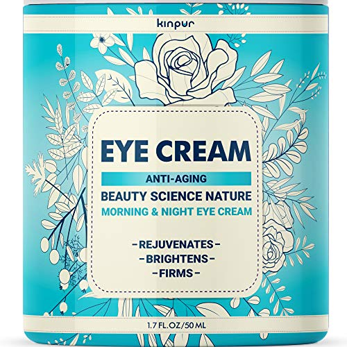 61Z 3Jn41KL - Best Under Eye Cream for Dark Circles and Puffiness - Anti-Aging and Moisturising Effect for Bags, Wrinkles, Fine Lines, Crow's Feet, 1.7 oz