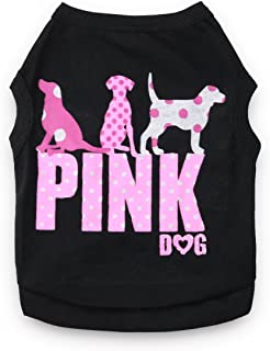 DroolingDog Dog Clothes Pink Dog Shirt Pet T Shirt for Small Dogs