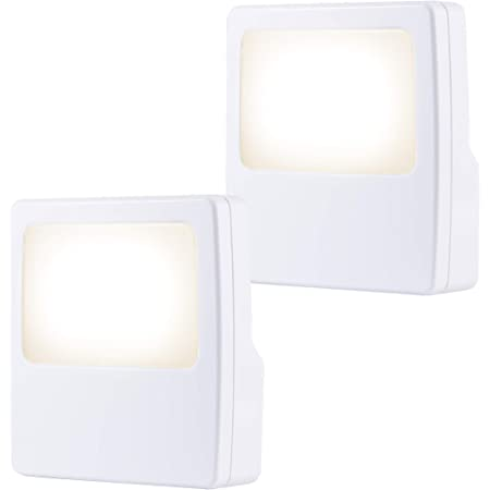 GE White Always-On LED Night Light, 2 Piece, Plug-In, Compact, Soft Glow, UL-Listed, Ideal for Bedroom, Nursery, Bathroom, Hallway, 11311, 2 Piece