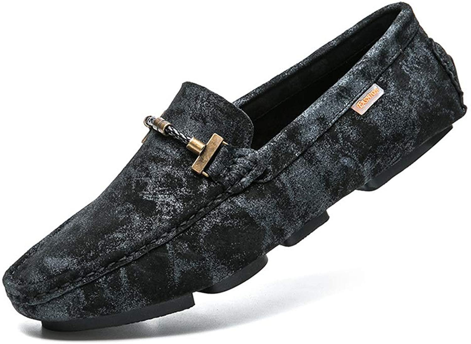 WWJDXZ Men's Classic Original Suede Leather Penny Loafers Comfort Low Cut shoes Driving shoes Slip-on Flats Moccasin Slippers Casual
