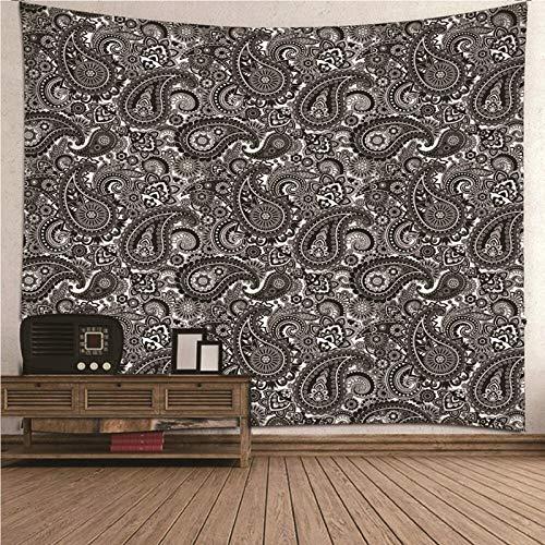 Aimsie Tapiz de pared, diseño vintage, poliéster, decoración de pared, color negro, 150 x 130 cm