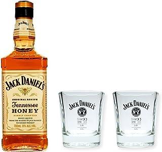 Jack Daniels Honey 0,7l 35% Set mit 2 Original Tumblern/Whiskybechern