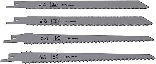 Juego de hojas de sierra de plástico/metal apto para sierras de jardín, piezas AAS 1080 para serrar plástico y metal (4 unidades)