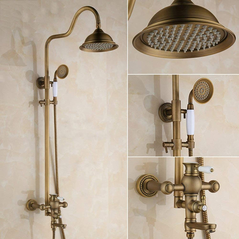 Europische Retro Stil Dusche, verstellbare Dusche Stange, Hand- und Top Kombination Dusche, Badezimmer Wand- Dusche einstellen