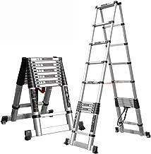 150 kg ZAQI Teleskopleiter Leiter Aluleiter Treppenleiter Verl/ängerungsleiter mit Haken Size : Height 2M Aluminium Hohe Mehrzweck-Teleskop-Aluminium-Dachleiter