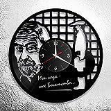 wtnhz Reloj de Pared con Disco de Vinilo LED Reloj de Pared de Discos de Vinilo de 12' Reloj De Pared De Vinilo Instrumento Musical Reloj de Pared
