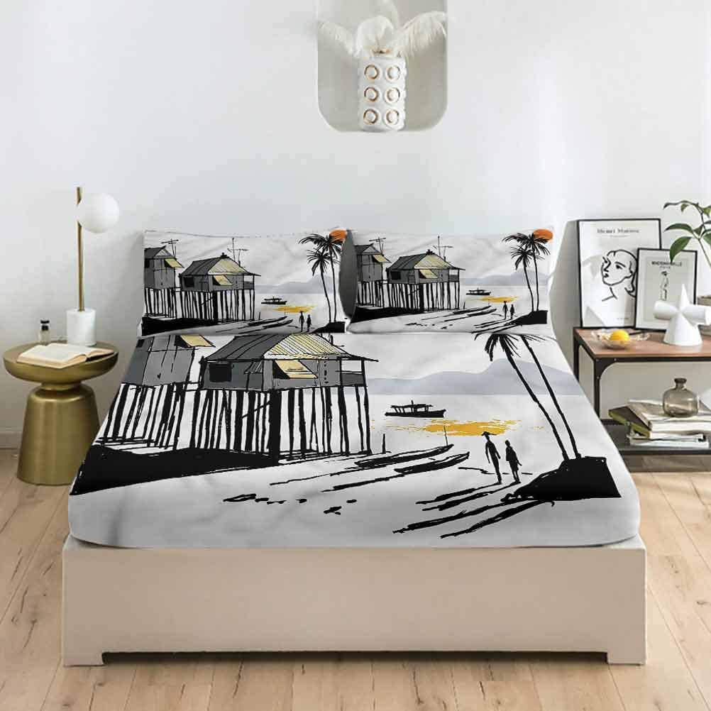 LCGGDB Coastal San Jose Mall Queen Size Fitted Sets Exotic Sheet Fort Worth Mall Pillowcase