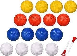 ADWIKOSO 24 Pcs Practice Golf Balls Foam Soft Elastic Golf Balls, Indoor Outdoor Golf Training Aid Balls with 2 Ball Studs
