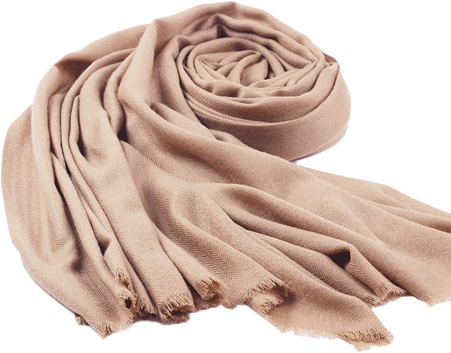 WXL Solid color Scarf Soft Shawl Woman Wrap Keep Warm Oversized Size 230cm × 90cm V (color   Camel)