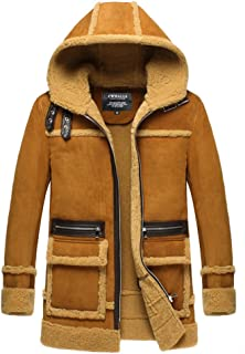 Best mens shearling coat with hood Reviews