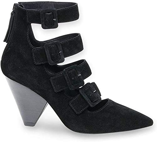 Ash - noir Sude Dolby Dolby with Multiple Buckles and Cone Heel - DOLBY01  économisez jusqu'à 30-50%