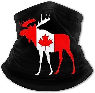 Pasamontañas para cuello con diseño de bandera de Canadá, protección UV, resistente al viento, multifunción, para niños y ...