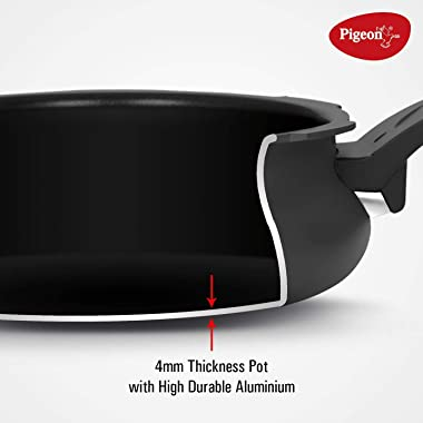 Pigeon Hard Anodized All-In-One Super Cooker - Nonstick - 5 Liter Stove Top Pressure Cooker, Steamer, Cooking Pot