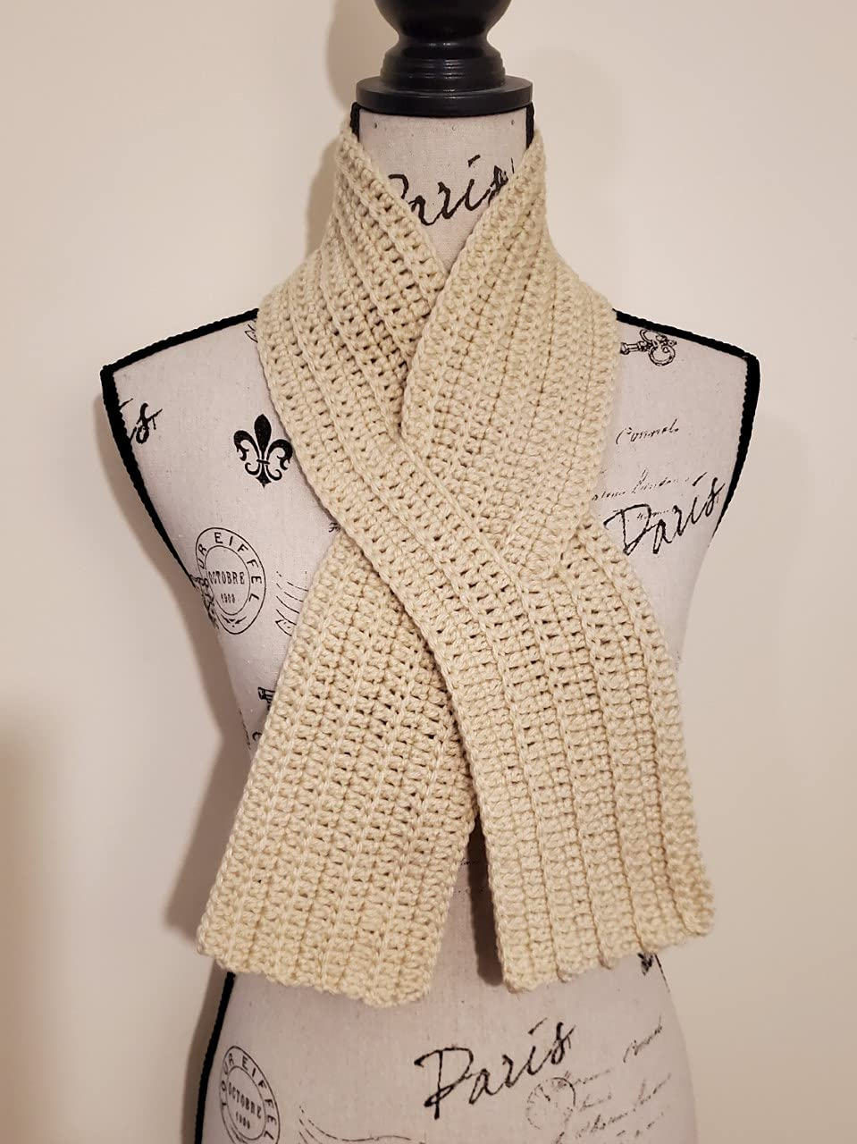 Beige Ribbon Scarf Selling and selling - Neck Design Keyhole Special price Warmer w