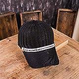 sdssup Sommermütze weibliche koreanische Version des Trends der Mode Strass Baseballmütze Wilde gestrickte atmungsaktive Mesh Sonnenschirm Hut weiblich 黑色 黑色 可