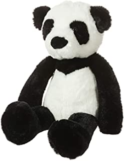 Apricot Lamb Panda Plush Toy Stuffed Animal Perfect for Girls Boys (Black Panda , 9 inches )