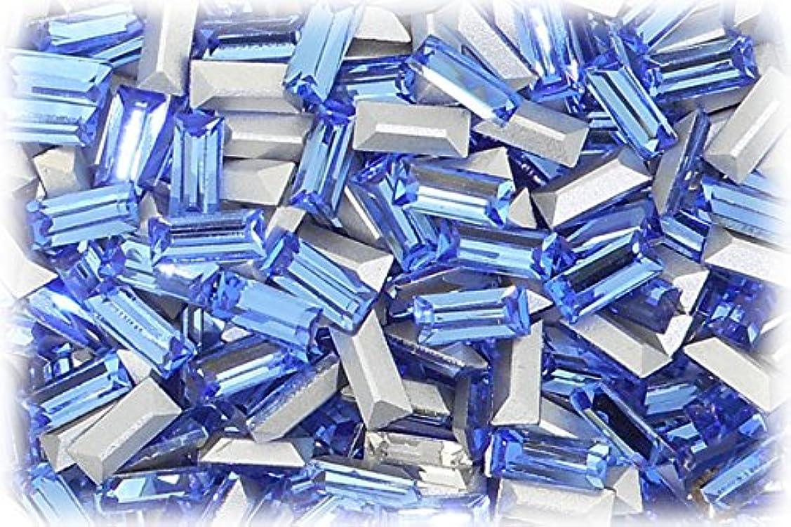 リビングルーム電子レンジ選択SHAREKI CRYSTAL Vカット (チャトン) ラインストーン バケット (四角形)スカイ 3mmx7mm 4個入りx3セット=12個  sky-3x7