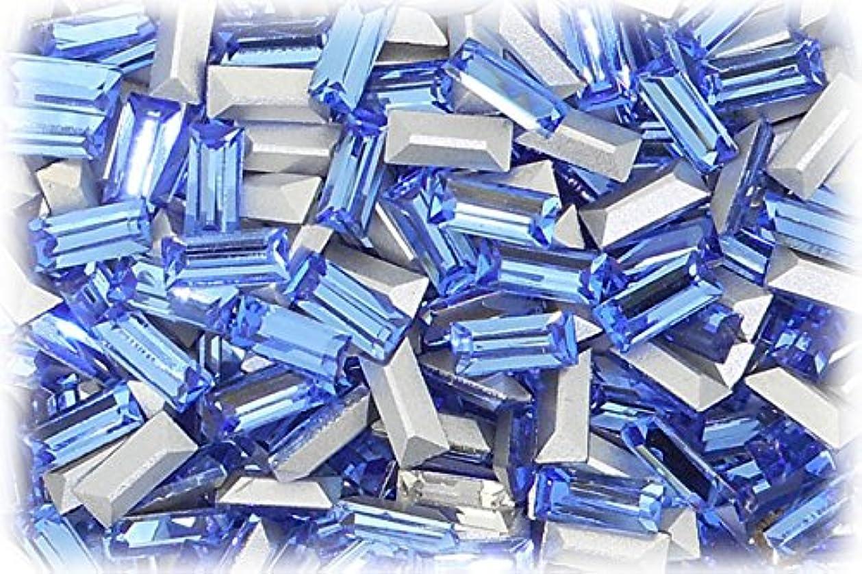約痛みおばあさんSHAREKI CRYSTAL Vカット (チャトン) ラインストーン バケット (四角形)スカイ 3mmx7mm 4個入りx3セット=12個  sky-3x7