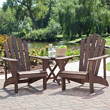 Coral Coast Adirondack Chair Set with FREE Side Table - Dark