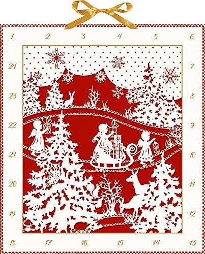Wand-Adventskalender – Weihnachtlicher Scherenschnitt