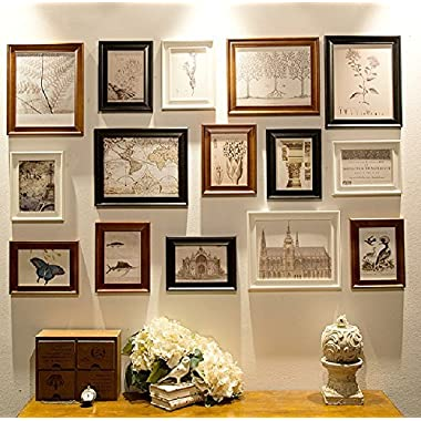 Multi Picture Frame Set, Photo Frame, Wall Frame Set, Large photo frame wall set, Home and Wall Decorations, Vintage Picture Frames, gallery wall frame set (RD15 BBW)