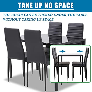 FDW Dining Table Set Dining Table Dining Room Table Set for Small Spaces Kitchen Table and Chairs for 4 Table with Chairs Hom