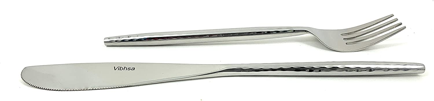 Vibhsa Stainless Steel Max 89% OFF Dinner Forks and National uniform free shipping Set Knives of P 8