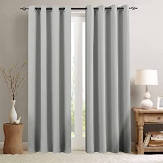 Grey Curtain 84 inches Long for Living Room Room Darkening Window Curtain Panel for..