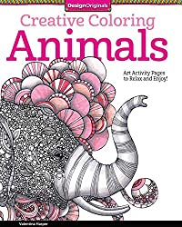Creative Coloring Animals If You Prefer Flowers Might Like This Book By Jenean Morrison Pages Are Printed On One Side Only So To Use Heavy