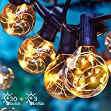 Albrillo LED Lichterkette Glühbirnen Außen, 11M 33er G40 Birnen, Wasserdicht Innen und Außen Deko Licht mit Stecker für Garten, Party, Bar,...