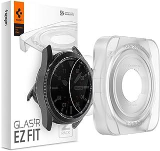 Spigen, 2-pack, skärmskydd för Samsung Galaxy Watch 3 45 mm, Glas.tR EZ Fit, installationssats ingår, fodralvänlig, 9H hår...