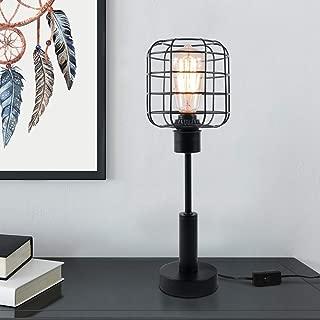 Edison Lamp, Industrial Desk Lamp, Bedside Table Lamp for Nightstand, Coffee Table, Dressers, Study Desk (Metal Industrial Lamp)