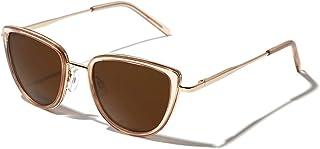 Cateye Polarized Sunglasses for Women Trendy Metal Frame...