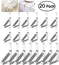 ProLeo - 20 clips de acero para mesa, color plateado
