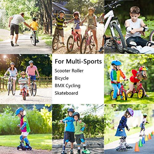 XJD Kinder Helm Skaterhelm Fahrradhelm Verstellbar CE-Zertifizierung Kinderhelm mit Luftlöcher für Fahrrad Motorrad Skateboard Schifahren 3-13 Jahres Kinder Junge Mädchen - 4