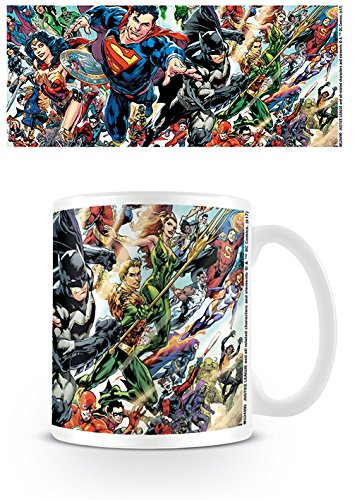 DC Comics Liga de la Justicia Renacimiento Taza de cerámica, Multicolor