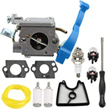 Allong Carburetor with Air Filter + Adjustment Tool Kit Screwdriver Primer Bulb for Husqvarna 125B 125BX 125BVX ZAMA C1Q-W37 545081811