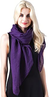 Womens Solid Color Large Sheer Wrap Shawl