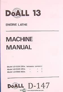 DoAll 13 LD 1320, 1340, 1370 Engine Lathe operations and Maintenance Manual Year (1992)