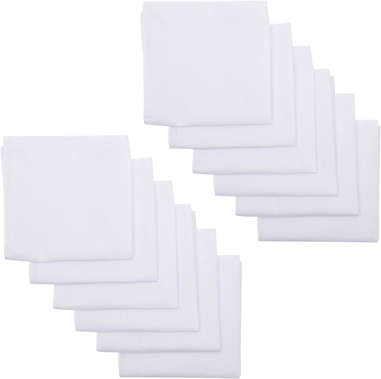 Elephant Brand White Handkerchief – Men's 12 Pack 100% Cotton