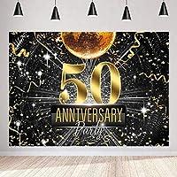 写真のための新しいレトロなネオンの背景9x6ft / 2.7x1.8mゴールドの結婚式50年記念日の背景Bdayパーティーの装飾の撮影の小道具233