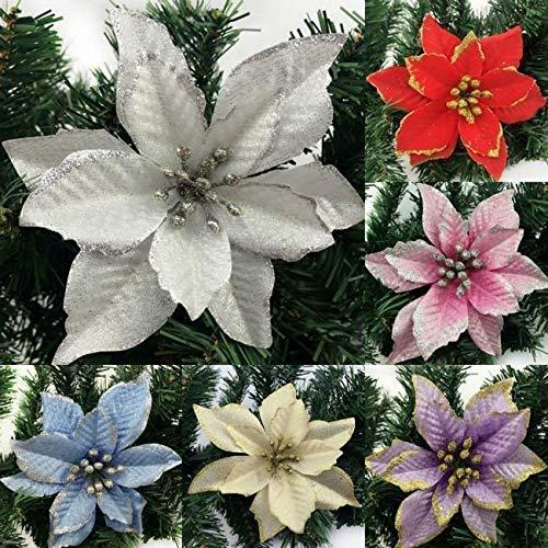 8 unids/set flores de Navidad 3Layer simulación árbol de Navidad decoración de Navidad Pascua Halloween