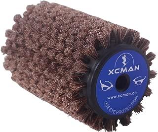 XCMAN Alpine Nordic Ski Roto Brush for Cross Country Ski Waxing Fits 10mm Hex Shaft 100mm Length (Roto Horsehair,Brass£¬Nylon Brush) ¡