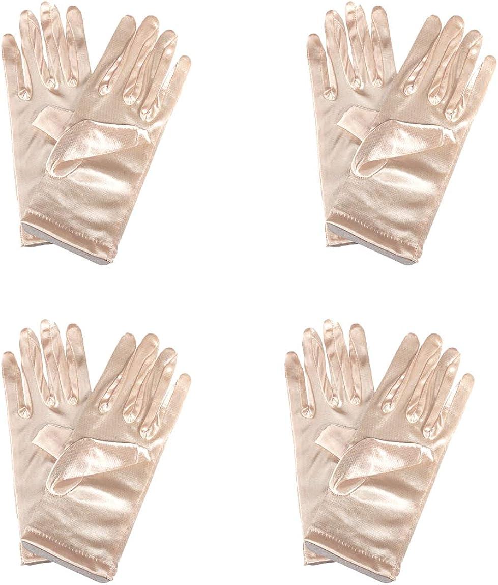 4 Pairs Short Opera Satin Party Banquet Wrist Tea Gloves Finally San Francisco Mall popular brand