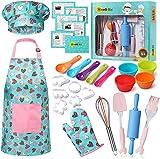 RISEBRITE Real Kids Baking Set for Girls – 35 Pcs Gift Set Includes Kids...